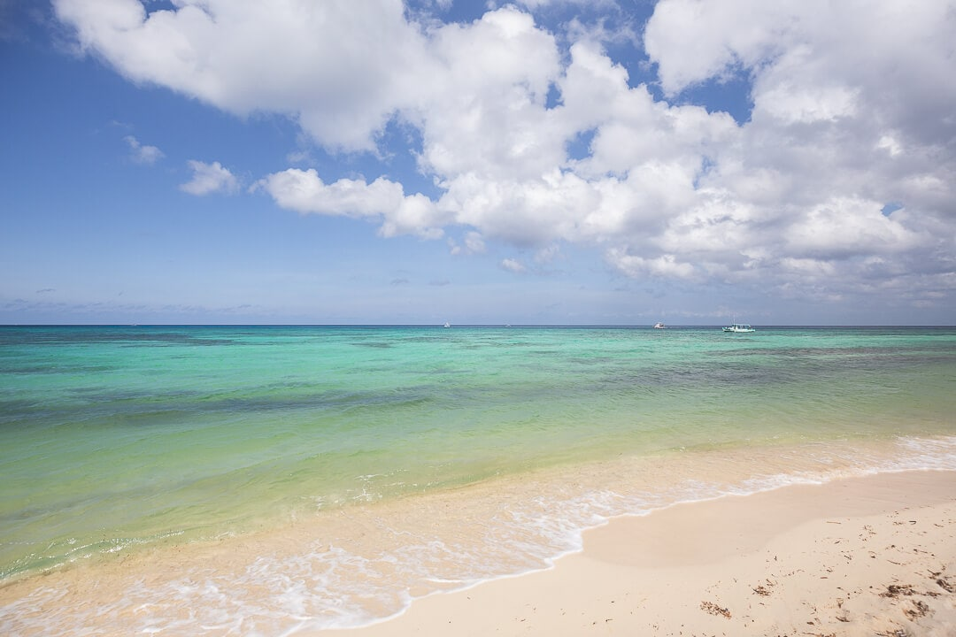 White sand and turquoise waters at Palancar Beach.