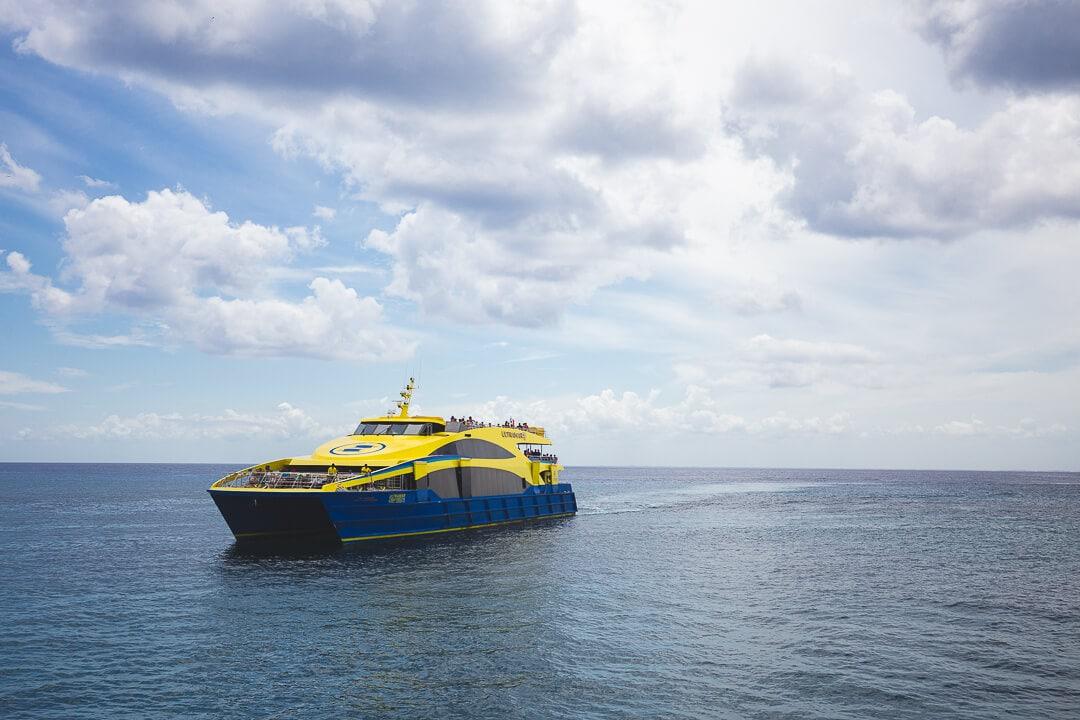 Ultramar Ferry between Playa del Carmen and Cozumel