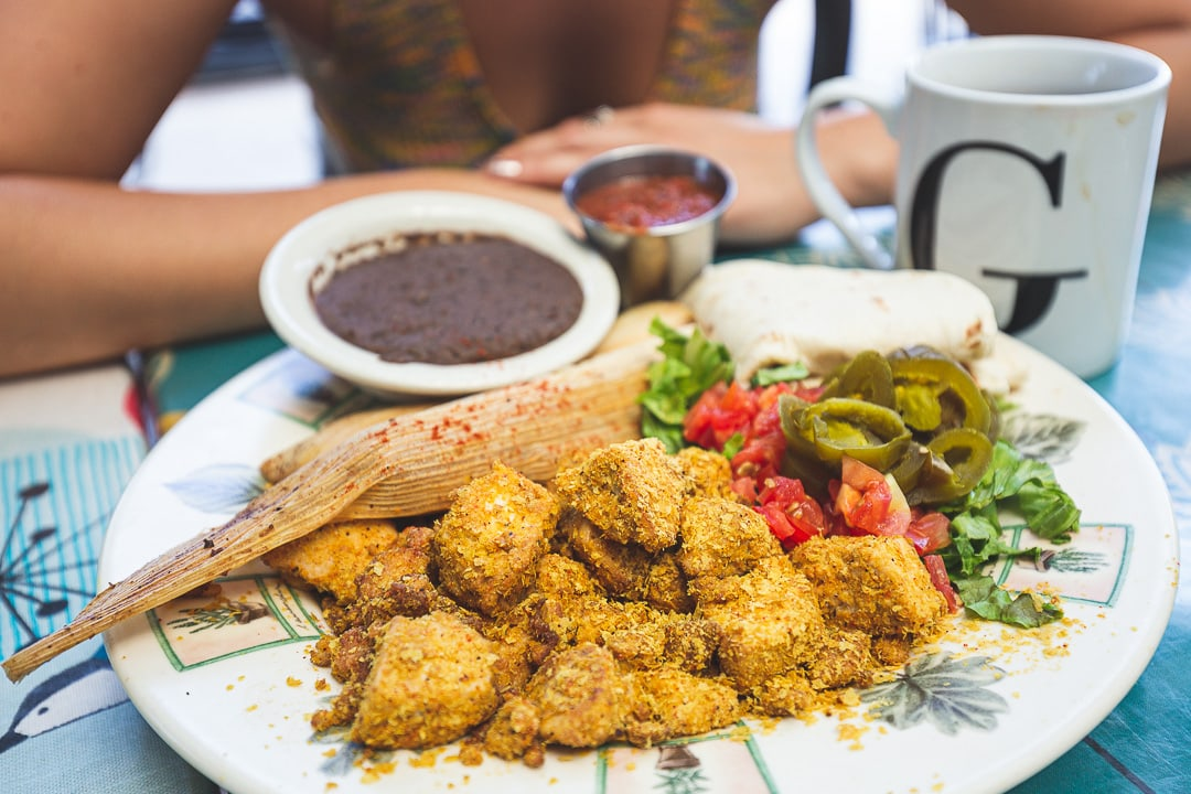 Tofu scramble at Bouldin Creek Cafe. 11 places to get your grub on in Austin, Texas.