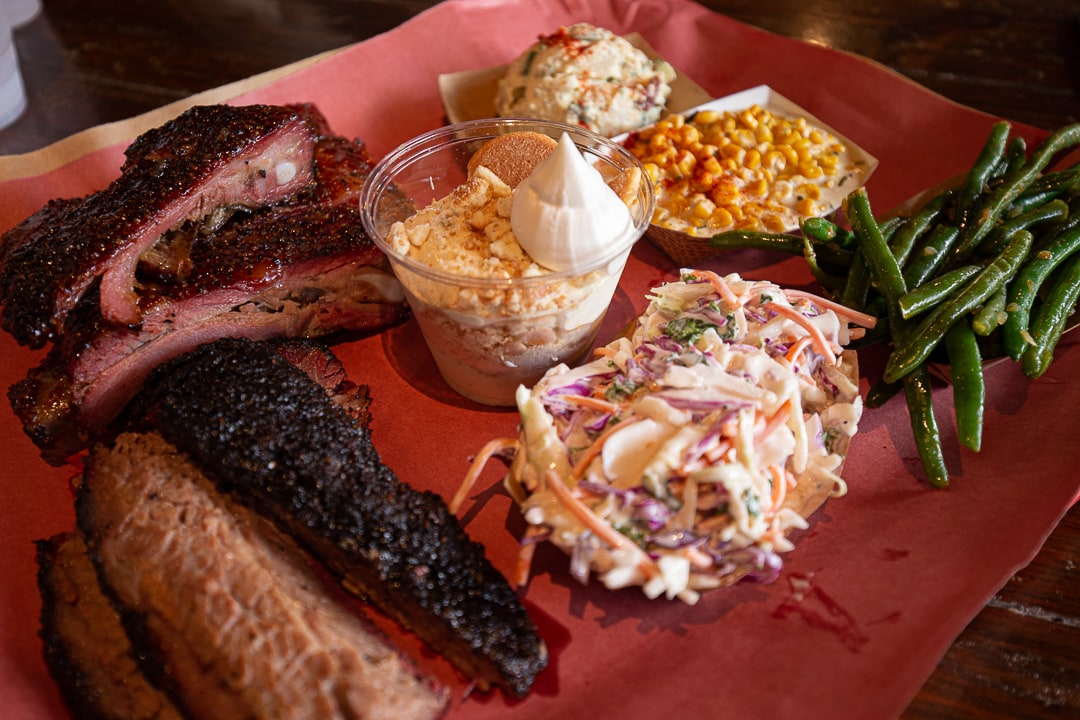 Terry Black's BBQ platter. 11 places to get your grub on in Austin, Texas.