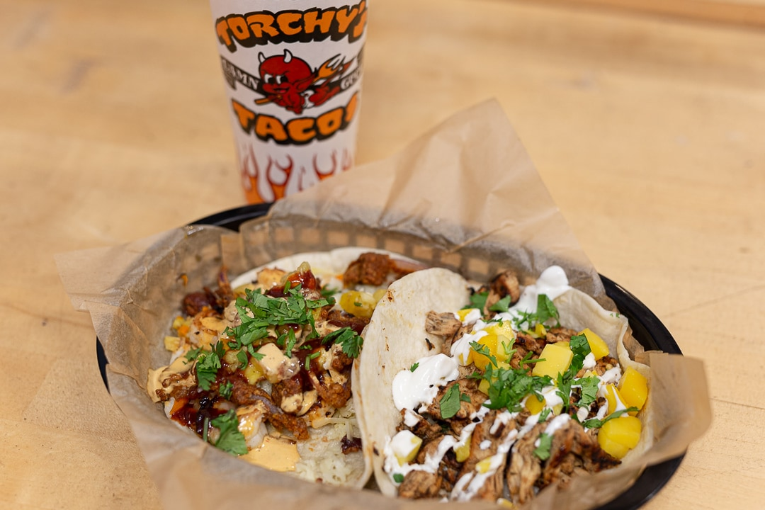 Two Torchy's Tacos. 11 places to get your grub on in Austin, Texas.