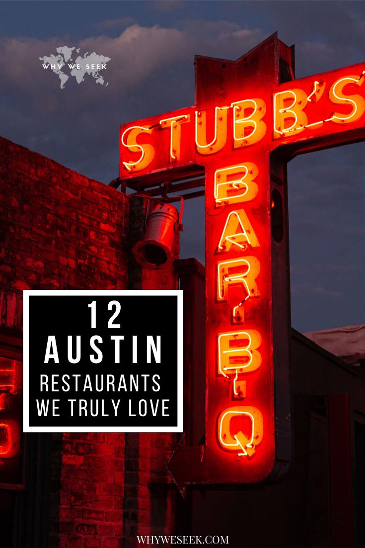 12 Austin restaurants we truly love pinterest pin