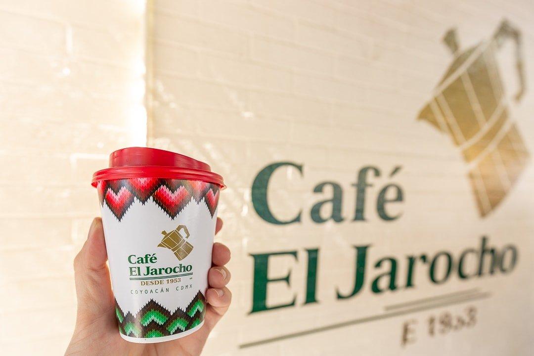 Cafe de olla at Cafe El Jarocho in Coyoacan, Mexico City