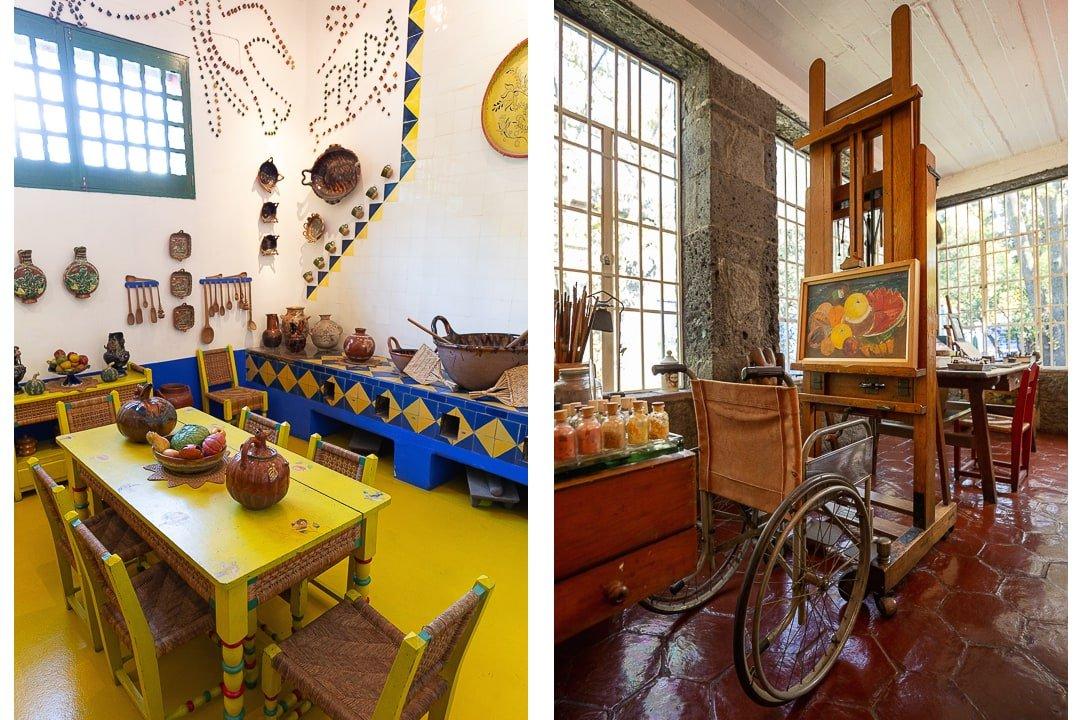 Inside Frida Kahlo's home at Casa Azul in Mexico City
