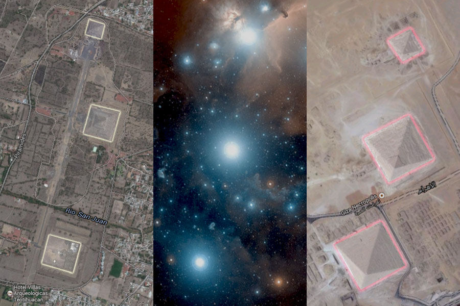 Teotihuacan Giza pyramids Orions belt