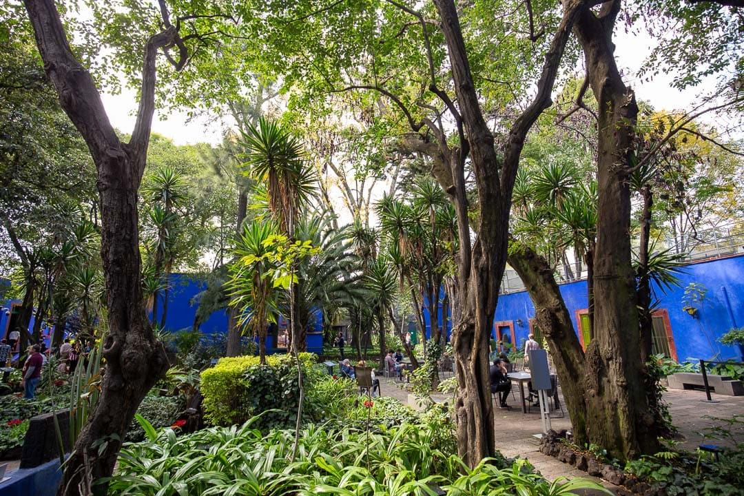 Casa Azul Museo Frida Kahlo courtyard