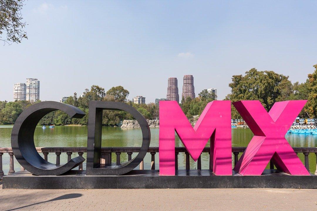 CDMX sign at Chapultepec park, Mexico City