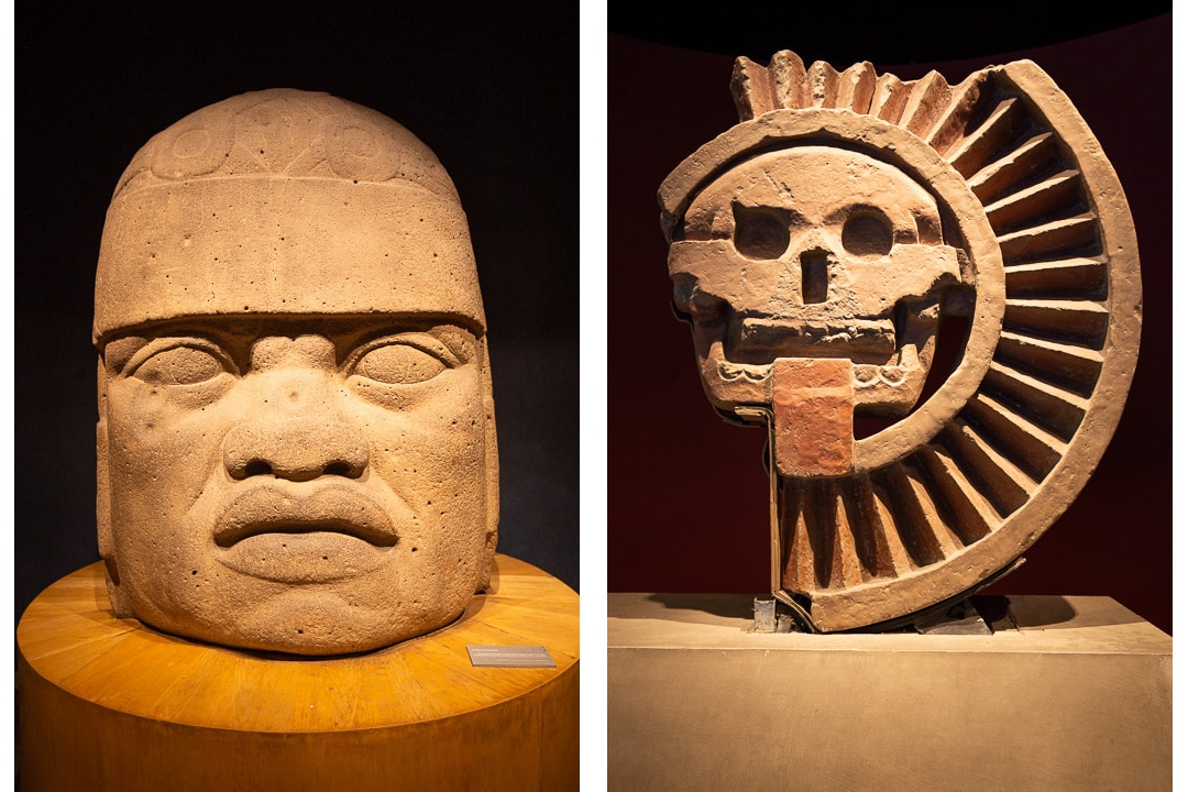 Artifacts from the National Museum of Anthropology in Mexico City