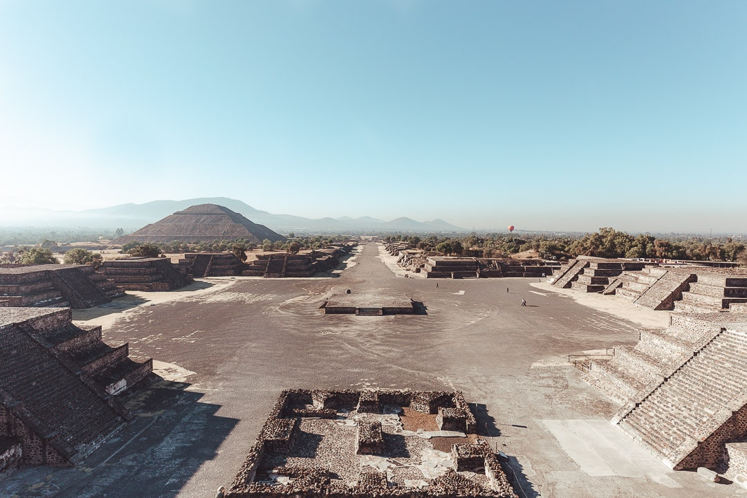 Avenue of the Dead at Teotihuacan outside Mexico City