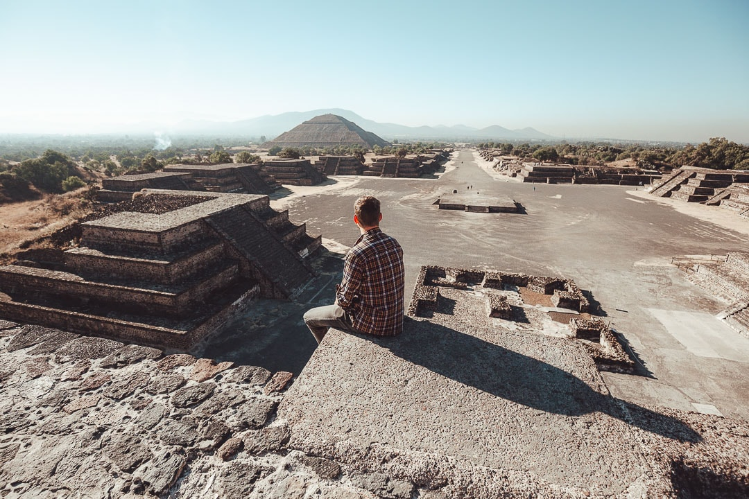 Pyramid of the Moon Teotihuacan view
