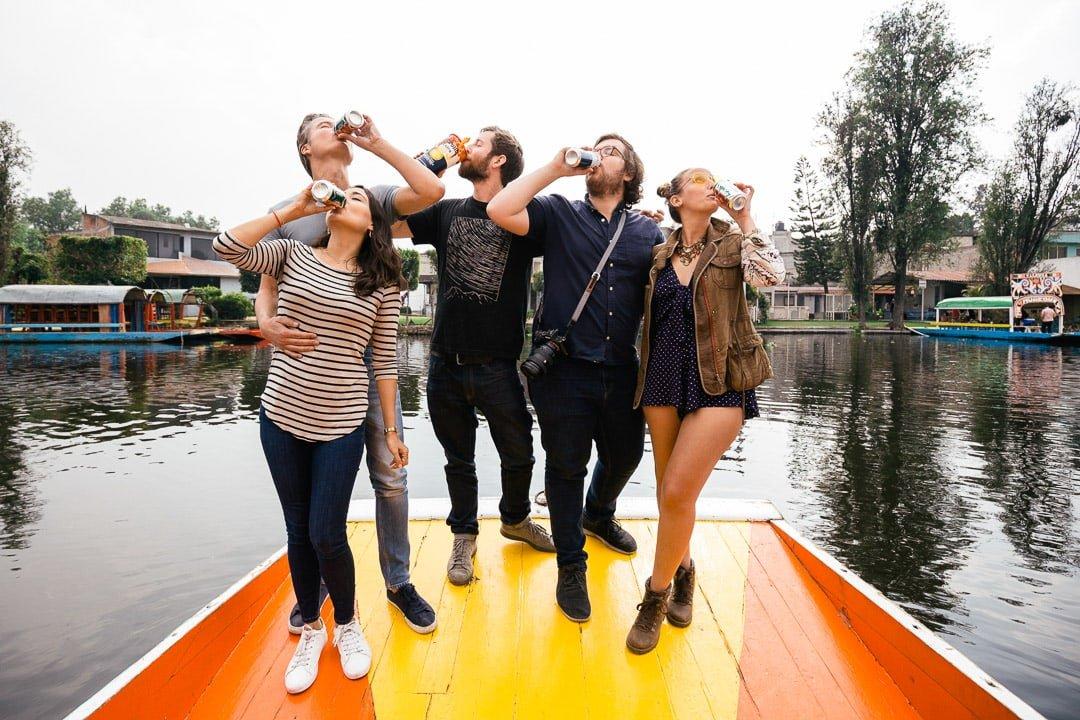 Drinking buddies at Xochimilco