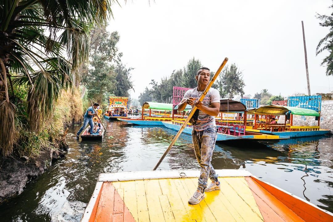 Rower at Xochimilco