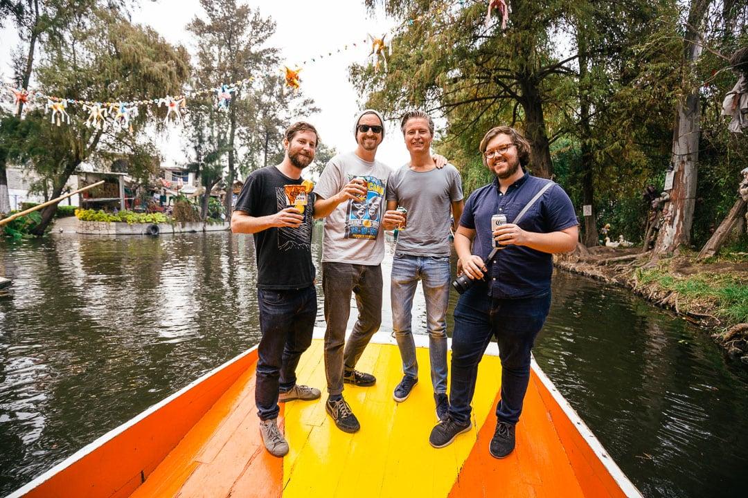 Friends at Xochimilco