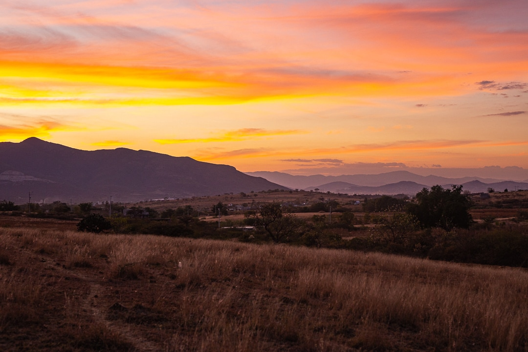Sunset over Oaxaca Valley