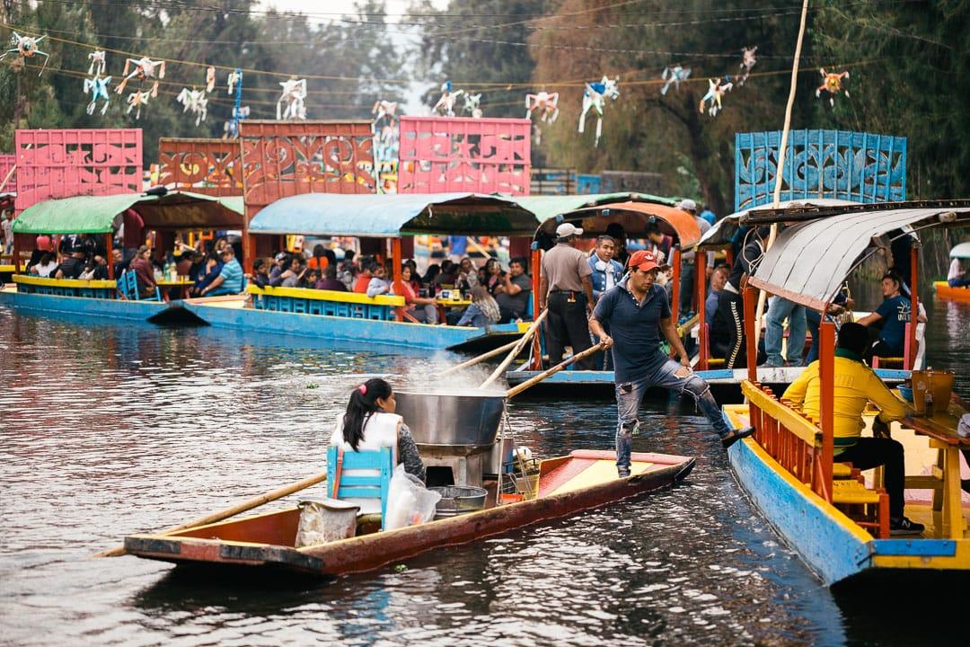 Vendor at Xochimilco
