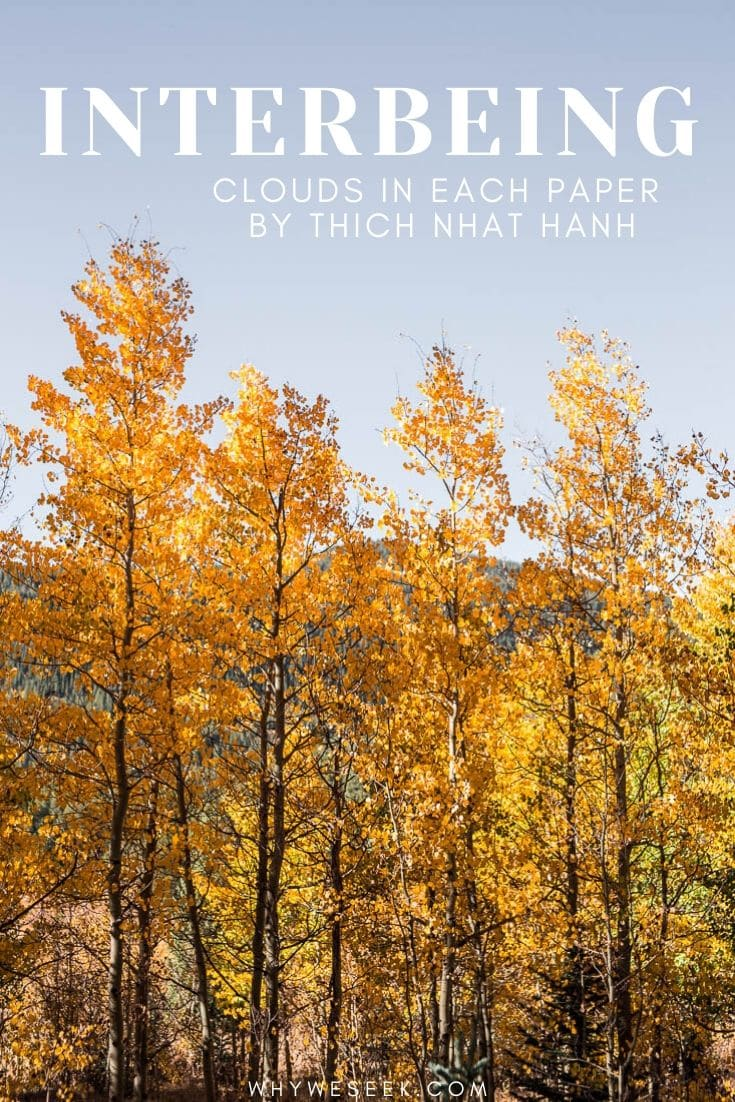 Interbeing: Clouds in Each Paper by Thich Nhat Hanh
