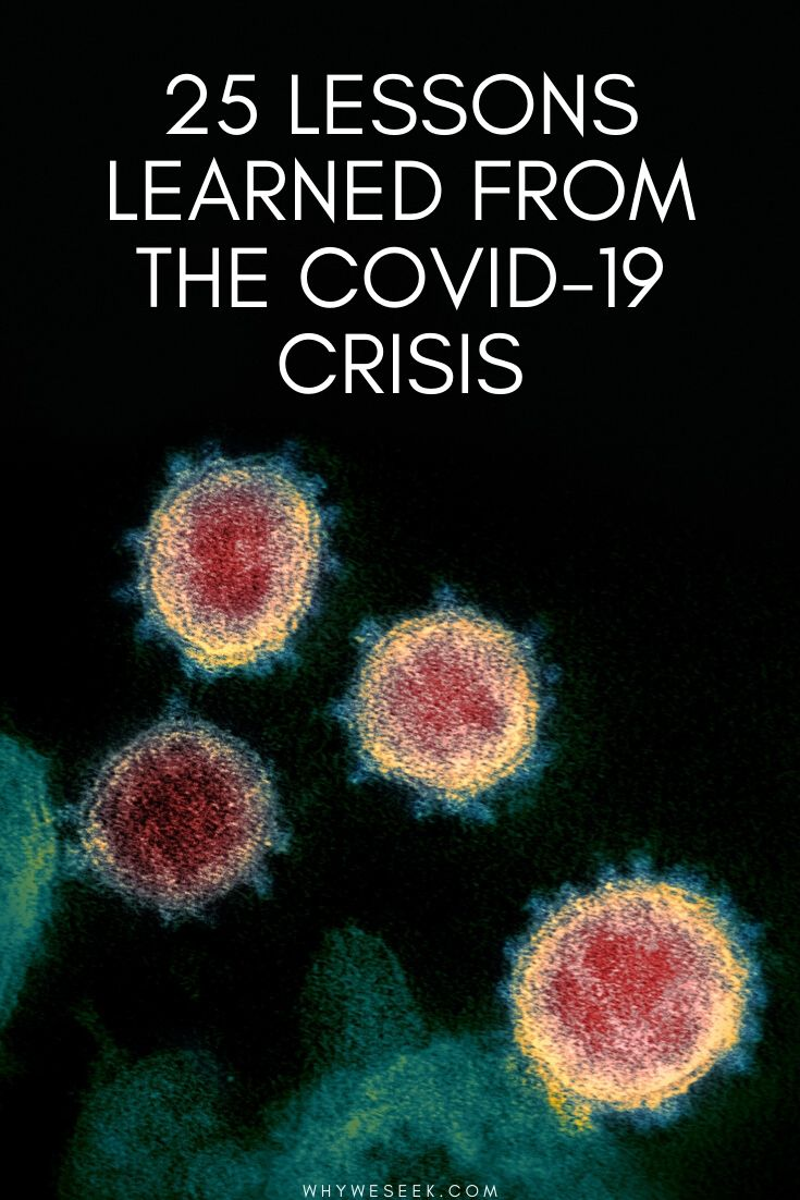 25 Lessons Learned From the Covid-19 Crisis